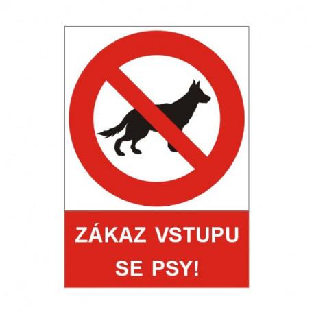 Tabulka - Zákaz vstupu se psy