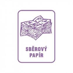 Samolepka sběrový papír