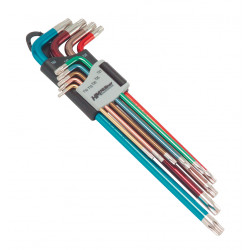 Sada klíčů Torx, Tx10-Tx50, barevné