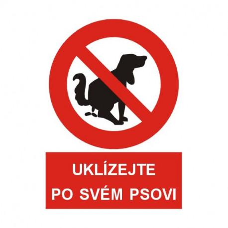 Tabulka Uklízejte po svém psovi