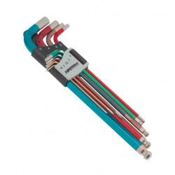 Sada klíčů inbus 1,5-10mm, barevné,prodl.,kul.