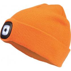 DEEL LED čepice s lampou - oranžová