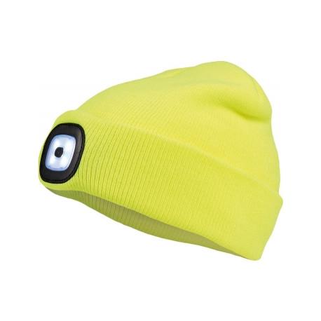 DEEL LED čepice s lampou - žlutá