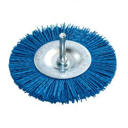 Nylonový modrý kotoučový kartáč 100 mm