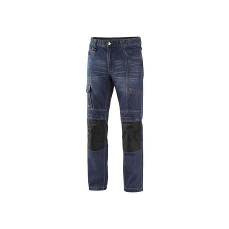 Kalhoty jeans NIMES I, pánské, modro-černé
