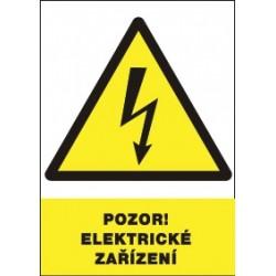 Pozor! Elektrické zařízení!